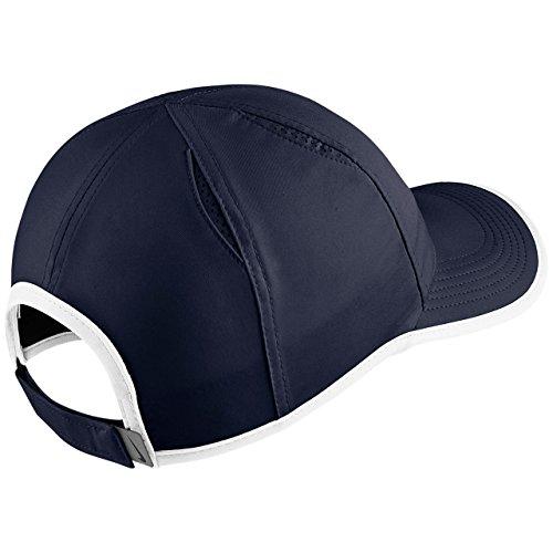 Chapeau white Nike Swoosh Blue Featherlite Unisexe Obsidian Aerobill vzggWI0qw