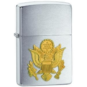 Zippo US Army Emblem Brushed Chrome - Accessories Ande Chromes