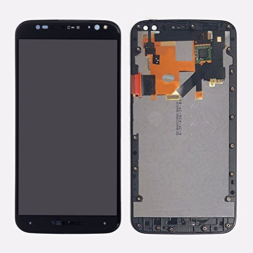 LSHtech LCD Display Digitizer Touch Screen Assembly for Motorola Moto X Pure Edition XT1575 with Frame + Free Tools (Black)