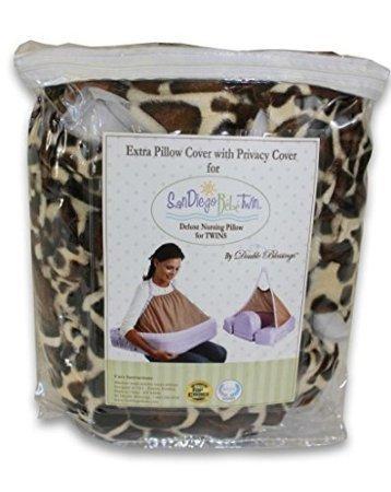 Extra Cover for San Diego Bebe TWIN Eco Nursing Pillow, Giraffe