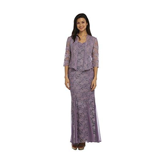 R & M Richards Lace Jacket Dress Sage 10