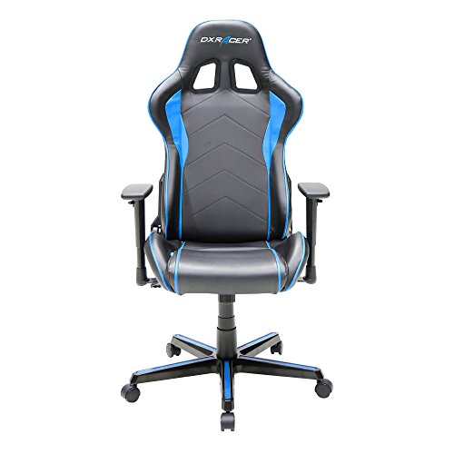 DXracer Formula Series DOH/FH08/NB Newedge EditionRacing Bucket Seat Office Chair Gaming Chair Ergonomic Computer Chair (Black/Blue) with Pillows