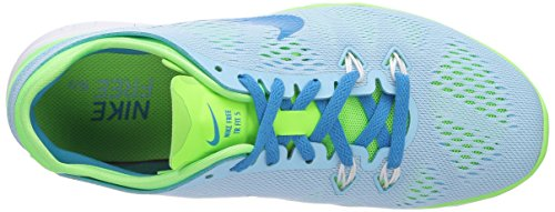 Nike Free TR 5, Women's Fitness Shoes Blue (Silent Blue/Lightning/Lime/White/Blue Lagoon 400)