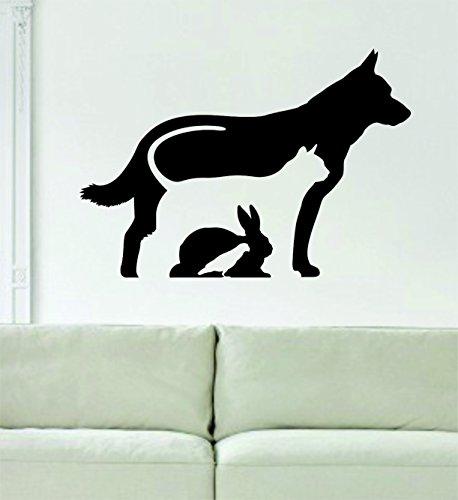 Dog Cat Rabbit Bird Silhouette Design Quote Decal Sticker Wall Vinyl Art Animal Vet Cute