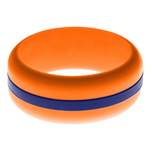 FLEX Ring - Womens Mens Orange Silicone Ring - Changeable Color Bands - Many Colors - Safe, Durable, Everyday Wear Wedding Band - 1 Ring - Sizes 4-16