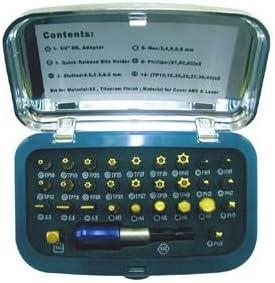 """SIGNET(シグネット) 22032 30PC 1/4"""" チタンコーティングビットセット"""