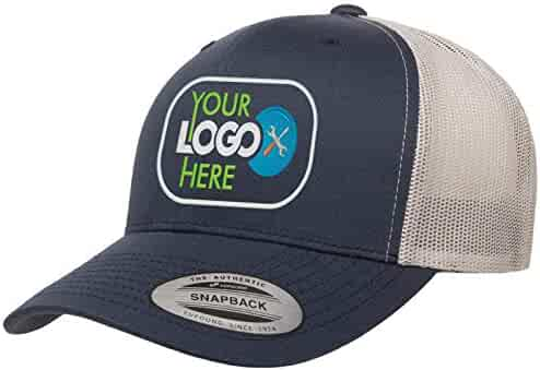fc6f007e59e968 Custom Trucker Hat. Yupoong 6606 Embroidered Your Own Logo Curved Bill  Snapback