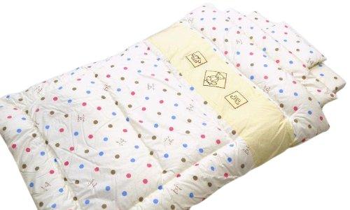 [Nishikawa Living Made in Japan baby set bedding set of 6 polka dots Kuma 13224