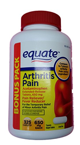 Acetaminophen Extended Release - Equate Arthritis Pain Bonus Pack, Acetaminophen Extended-Release Tablets, 650mg, 325ct, Compare to Tylenol Arthritis Pain