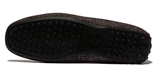 Opp Mens Fashion Slip-on Driving Casual Mocassino Scarpe In Metallo Decorazione Traspirante Collezione 2016 Marrone