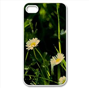 Tiny Daisies Watercolor style Cover iPhone 4 and 4S Case (Flowers Watercolor style Cover iPhone 4 and 4S Case)