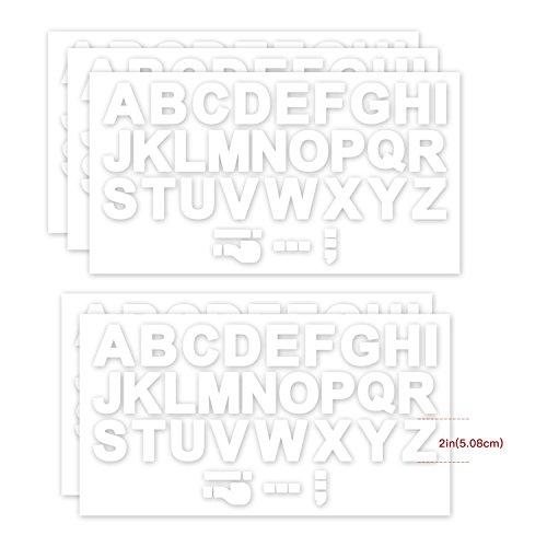 RUSPEPA 2 Inch Letter Transfers For Sport T-Shirt,White(5 Sheet)