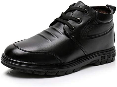 ハイカット ビジネスシューズ メンズ 本革 裏起毛 ボア ウォーキングシューズ 革靴 紳士靴 レースアップ 3e EEE 幅広 軽量 防滑 黒 カジュアル 結婚式 通勤 仕事 履きやすい疲れにくい