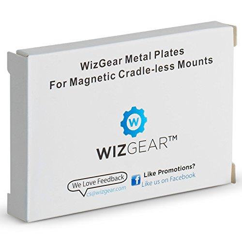 Soporte de placa metálica con adhesivo para soporte magnético sin soporte, paquete X4, rectángulo 2 y 2 redondos (compatibles con soportes magnéticos) Paquete de 4