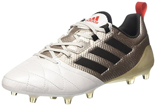 adidas Ace 17.1 FG Womens Leather Soccer Boots/Cleats-Silver-7.5