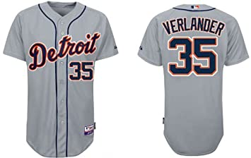 huge discount a6582 0036d Size XXX-LARGE Detroit Tigers #35 Justin Verlander Grey MLB ...