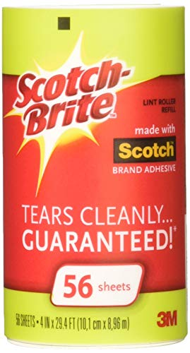 Scotch-Brite Lint Roller Refill Roll 56 ea (Pack of 4)