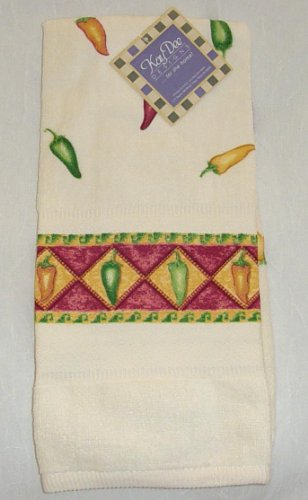 Hot Chili Peppers - Kay Dee Designs Border Terry Towel (1) ()
