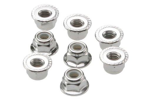 Traxxas 3647 Flanged Nylon Lock Nuts - 4mm (Set of 8)