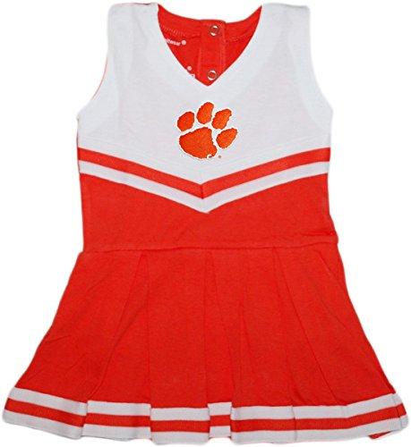(Clemson University Tigers Baby and Toddler Cheerleader Bodysuit Dress Orange)