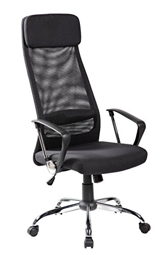 KERLAND High Back Mesh Ergonomic Swivel Adjustable Seat Height Padded Headrest Computer Desk Executive Office Chair With Arms, Black by KERLAND