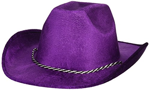 Purple Velour Cowboy Hat, Party Accessory, 6 Ct.