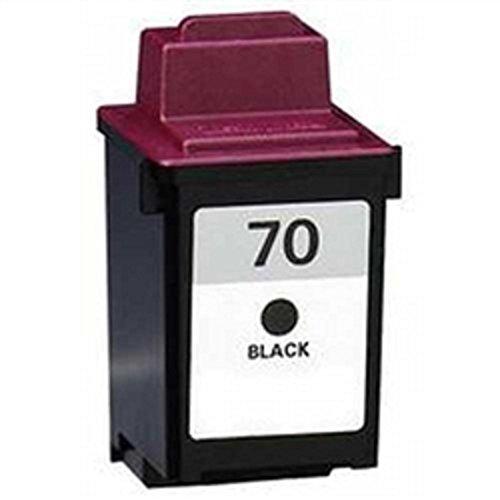 Inkjet Remanufactured 12a1970 Cartridge Black (WORLDS OF CARTRIDGES Remanufactured Ink Cartridge Replacement for Lexmark #70 / 12A1970 (Black))