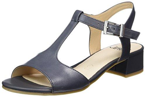 Caprice 28205, Sandalias con Cuña para Mujer Azul (NAVY NAPPA)