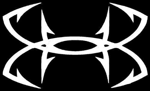Large Under Armour Fish Hook Vinyl Decal Sticker For Car