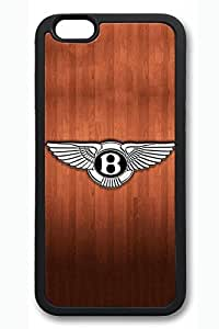 iPhone 5 5s Case - Perfect Fit Soft Rubber Black Back Cover with Bentley Car Logo 9 Pattern for iPhone 5 5s Scratch-Resistant Protective Soft Case for iPhone 5 5s es