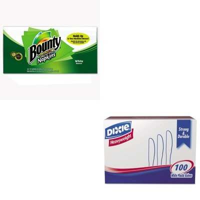 KITDXEKH207PAG34884 - Value Kit - Procter Gamble Professional Quilted Napkins (PAG34884) and Dixie Plastic Cutlery (DXEKH207)