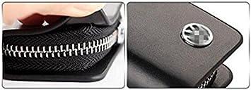 Trust Premium Leather Car Key Chain Coin Holder Zipper Case Remote Wallet Bag for All Audi car Key Black