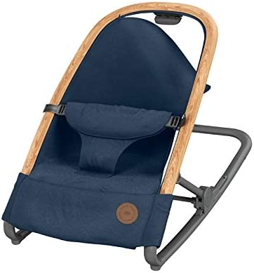 Bébé Confort Kori 2 en 1, Hamaca ligera con acolchado acogedor para recién nacidos, 0-9 kg, Essential Blue (azul)