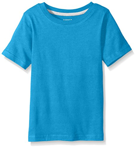 French Toast Big Boys' Short Sleeve Crew Neck Tee, Methyl Blue Heather, 10/12