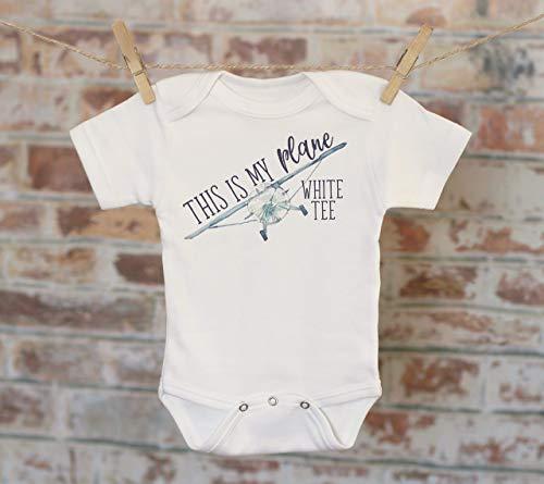 This Is My Plane White Tee Onesie®, Funny Onesie, Boy Onesie, Cute Baby Bodysuit, Airplane Onesie, Boho Baby Onesie, Jokes -