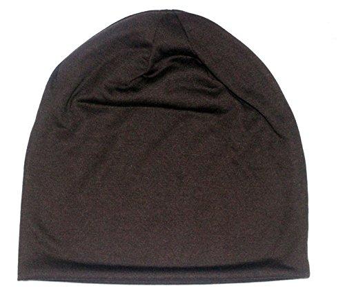 ICSTH Unisex Cotton Beanie- Soft Sleep Cap Street Dancer Watch Hat (one size, Brown) (Brown Cotton Beanie)
