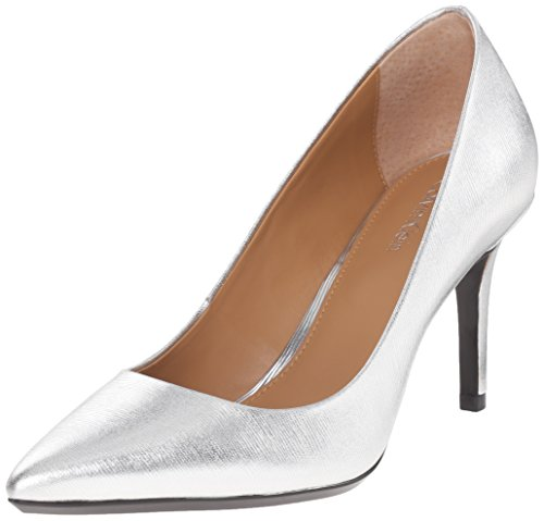 Klein Gayle Pump Women's Silver Calvin Leather Metallic Birch zqRUxfwd