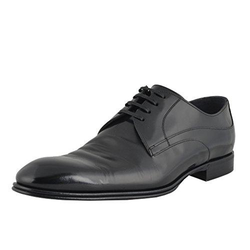 Dolce & Gabbana Heren Zwart Lederen Oxfords Schoenen Zwart
