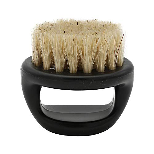 LiPing Extreme Comfort Men Shaving Brush Best Horsehair Shave Wood Handle Razor Barber Tool For Beard Hair & Mustaches Dry Home Professional Trim (C)