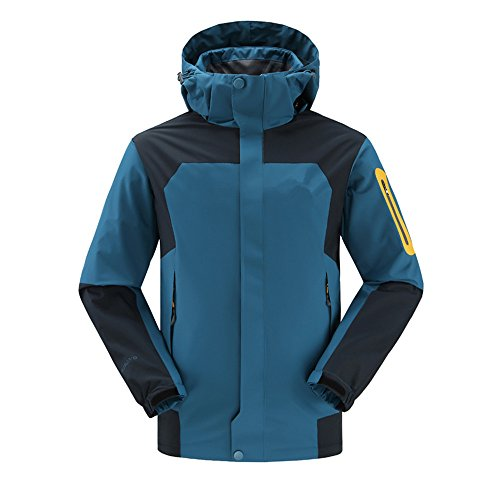 Men-3-in-1-Winter-Fleece-Outdoor-Mountain-Ski-Snow-Wind-Water-Proof-Jacket-Coats