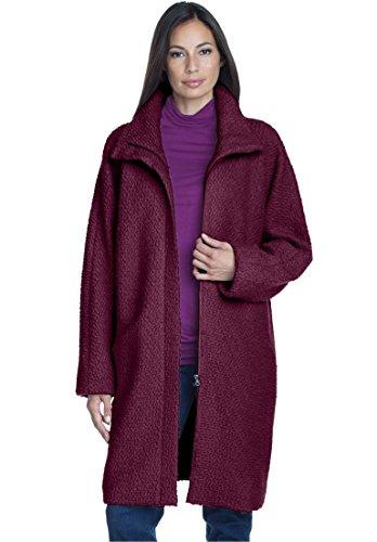 Boucle Plus Size Coat (Jessica London Women's Plus Size Boucle Coat Midnight)