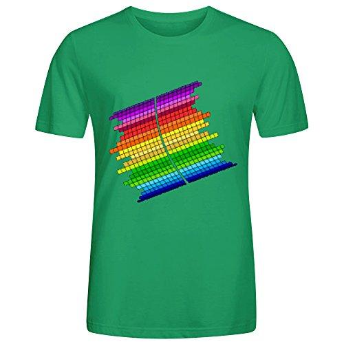 rainbow-equalizer-men-tees-crew-neck-green-printed