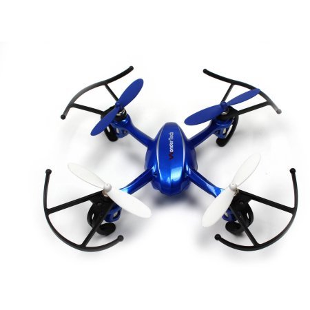 WonderTech Invader Drone RC 6-Axis Gyro Remote Control Quadcopter Flying Drone with LED Lights | Blue (Quadcopter Remote Control compare prices)