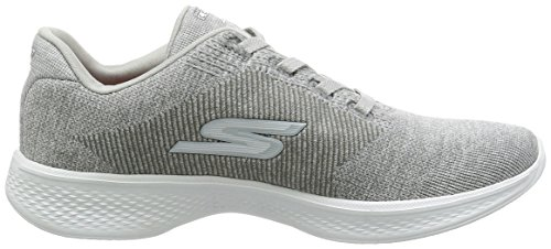 Skechers Performance Damen Go Walk 4 Lace-Up Wanderschuhe Grauer Strick