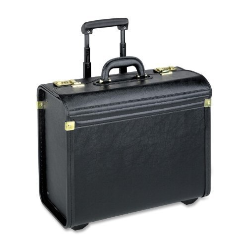 Lorell 61612, Rolling Laptop Catalog Case, Maximum 16 in. Screen Size, Black Vinyl by Lorell