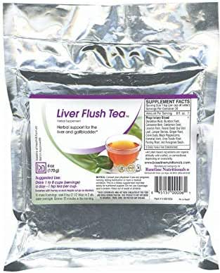 Baseline Nutritionals Liver Flush Tea - 15 Powerful Herbs such as Dandelion Root, Burdock, Uva Ursi Leaf, Erva Tostao