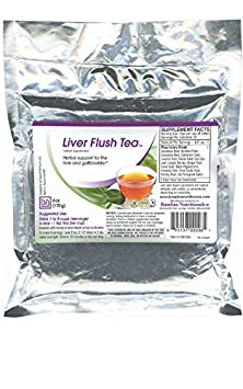 Baseline Nutritionals Liver Flush Tea – 15 Powerful Herbs such as Dandelion Root, Burdock, Uva Ursi Leaf, Erva Tostao