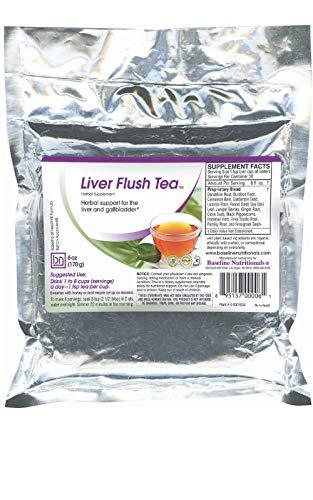Baseline Nutritionals Liver Flush Tea - 15 Powerful Herbs Such as Dandelion Root, Burdock, Uva Ursi Leaf, Erva Tostao