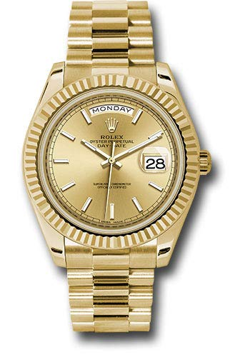 Rolex Day-Date 40 Automatic Champagne Dial 18kt Yellow Gold Mens Watch 228238CRSP 18kt Yellow Gold Mens Watch