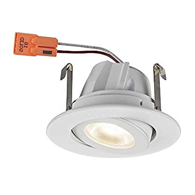 Adjustable White Gimbal Trim LED Recessed Module for 2-Inch Cans 3000K 680 Lumens